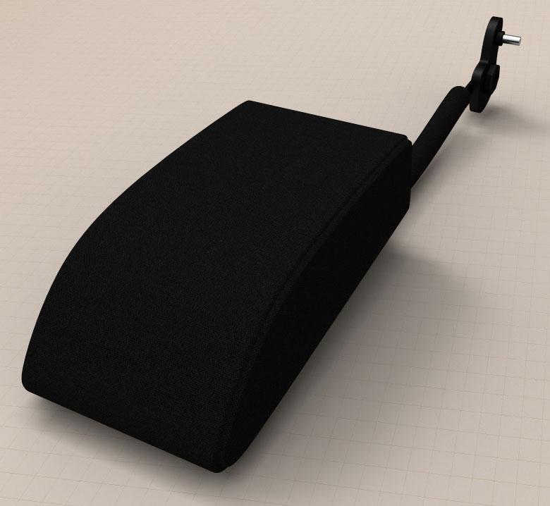 Цвет: Кож.зам.черный. Два положения: скрытое и рабочее, съемный чехол на молнии